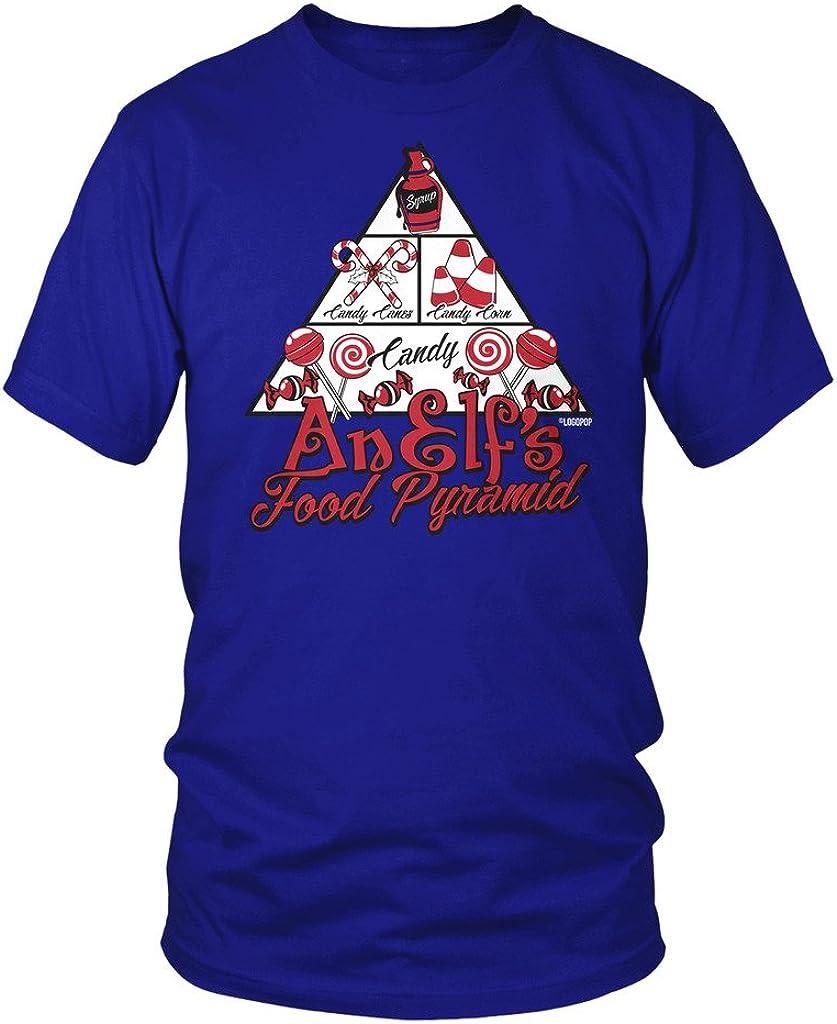 LOGOPOP Men's an Elfs Food Pyramid T-Shirt