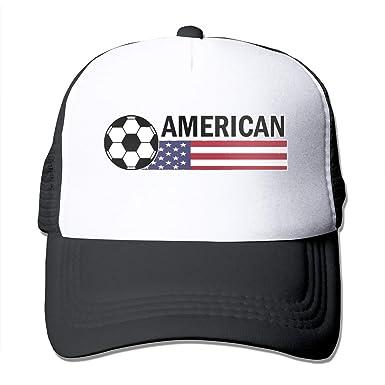 Bandera americana Fútbol Fútbol Malla ajustable Trucker Gorra de ...