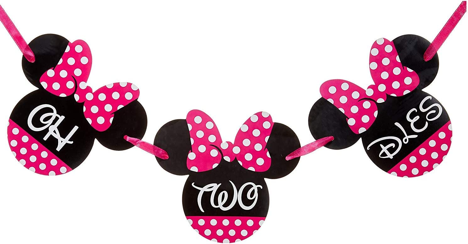 Amazon.com: Minnie Mouse 1er Cumpleaños Banner | Uno ...