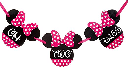 Amazon.com: Oh Two Dles! accesorios para fiesta Minnie Mouse ...