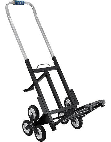 Tecmaqui Carretilla de Carga para Escaleras Capacidad de 150kg Carro Portátil de Escalera para Todos los