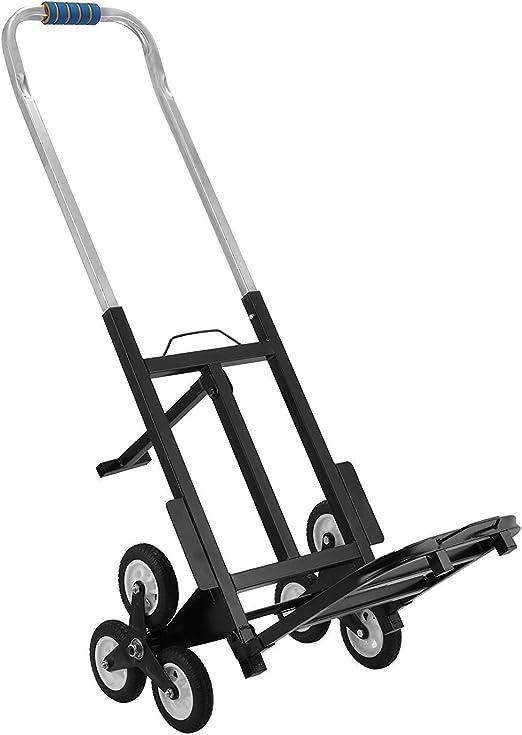 Guellin Carretilla de Carga para Escaleras Carro Portátil de Escalera con Capacidad de 150kg Carretilla Plegable con 6 Ruedas para Todos los Terrenos: Amazon.es: Hogar