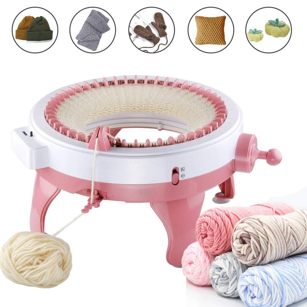 Knitting Machine, Smart Weaver Knitting Round Loom, Knitting Board Rotating Double Knit Loom, Needles Knitting Machine Weaving Loom Kit for Adults and Kids by MIAOKE (Image #1)