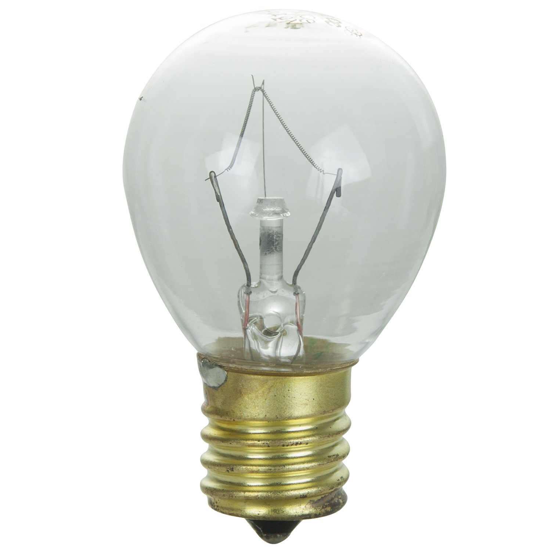Sunlite 40S11/N/CL Incandescent 40-Watt, Intermediate Based, S11 Indicator Colored Bulb, Clear