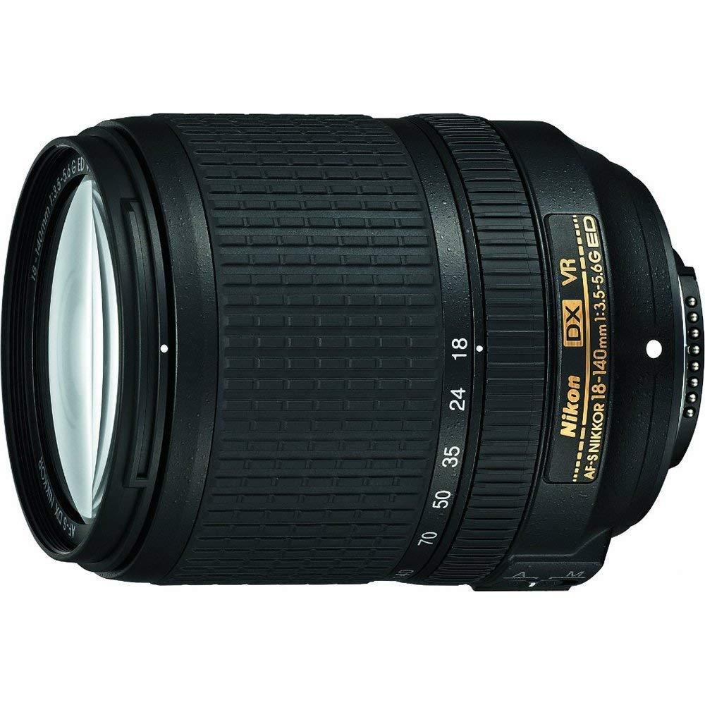 Renewed Nikon AF-S DX NIKKOR 18-140mm f//3.5-5.6G ED Vibration Reduction Zoom Lens with Auto Focus for Nikon DSLR Cameras