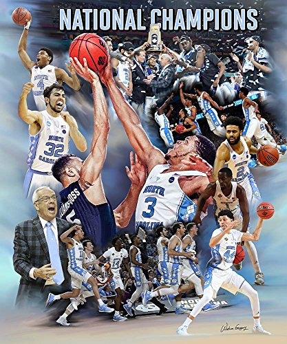 Redemption   6   2017 Unc Tarheel Basketball National Champions Commemorative Art Print  11X8 5 Inches