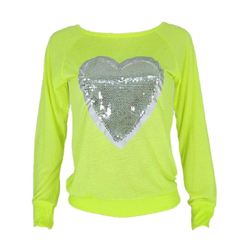Blouse, Lookatool Women Heart Sequins Long Sleeve Top Shirt Blouse T-Shirt