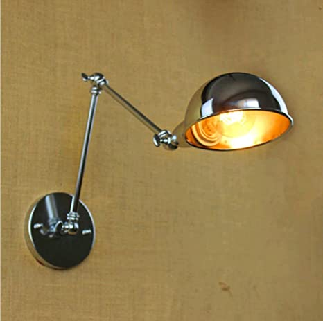 PST@ Two swing arm Vintage Wall Lamp Arandela America simple industrial wall lamps lamparas de pared Retro Luxury Wall Sconce Lights - - Amazon.com