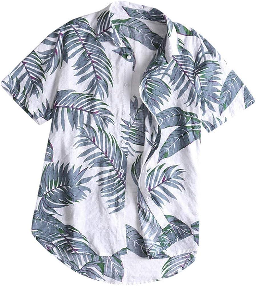SUDADY Camisas para Hombre, Estilo Hawaiano Hombre Verano Corta ...