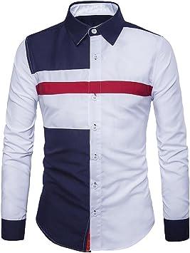 Camisa de hombre de Business con botón hombres Casual manga ...