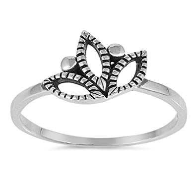 Amazon lotus flower band ring 925 sterling silver choose color amazon lotus flower band ring 925 sterling silver choose color jewelry mightylinksfo