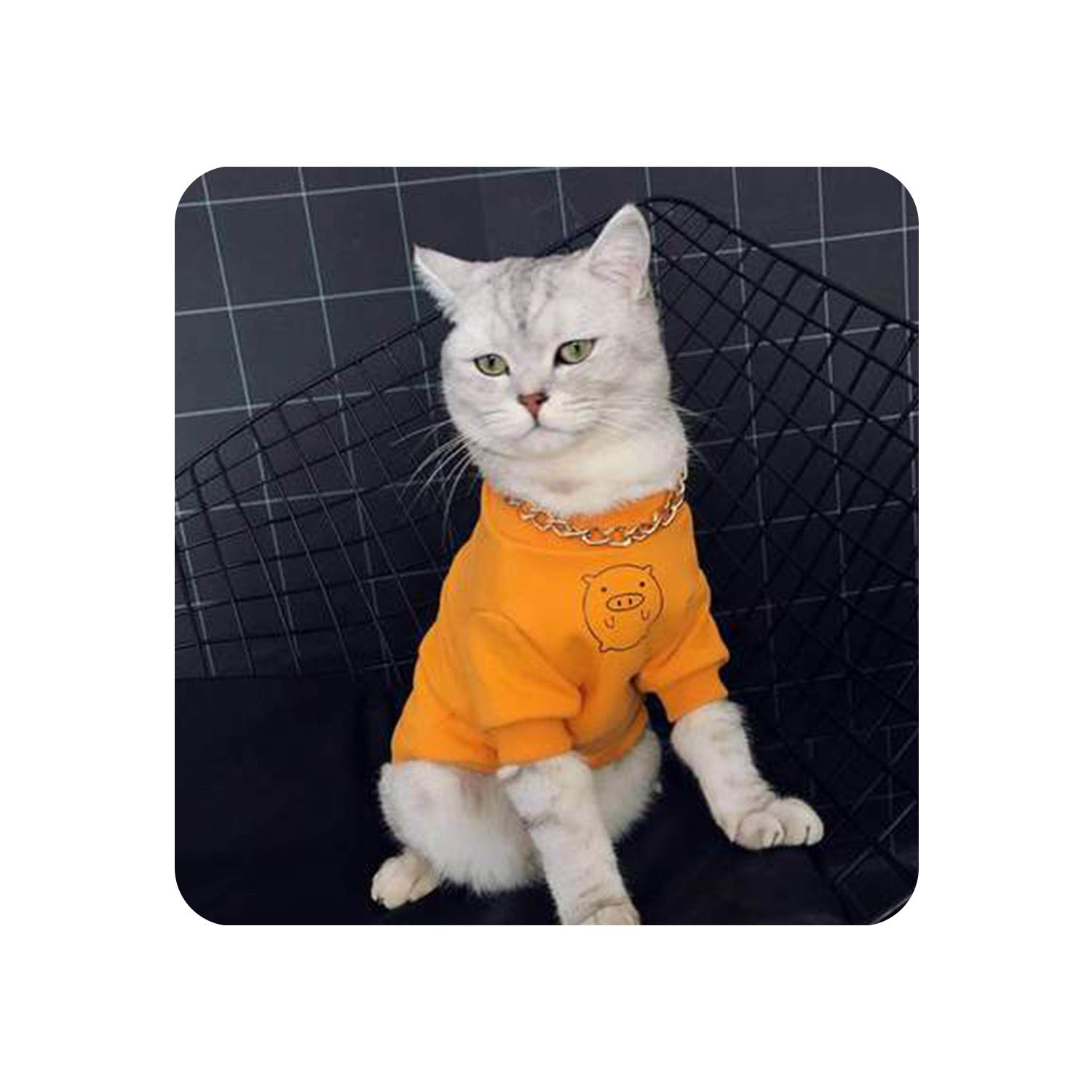 Encounter_meet Kitten Clothes Cat Sweater for A Cat Cats Clothing for Pets Princess Navidad Cat Clothes,Yellow,L