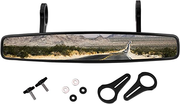 "15/"" Wide Rear View Mirror with 1.75/"" Clamp for Polaris RZR800 XP900 XP1000 UTV"