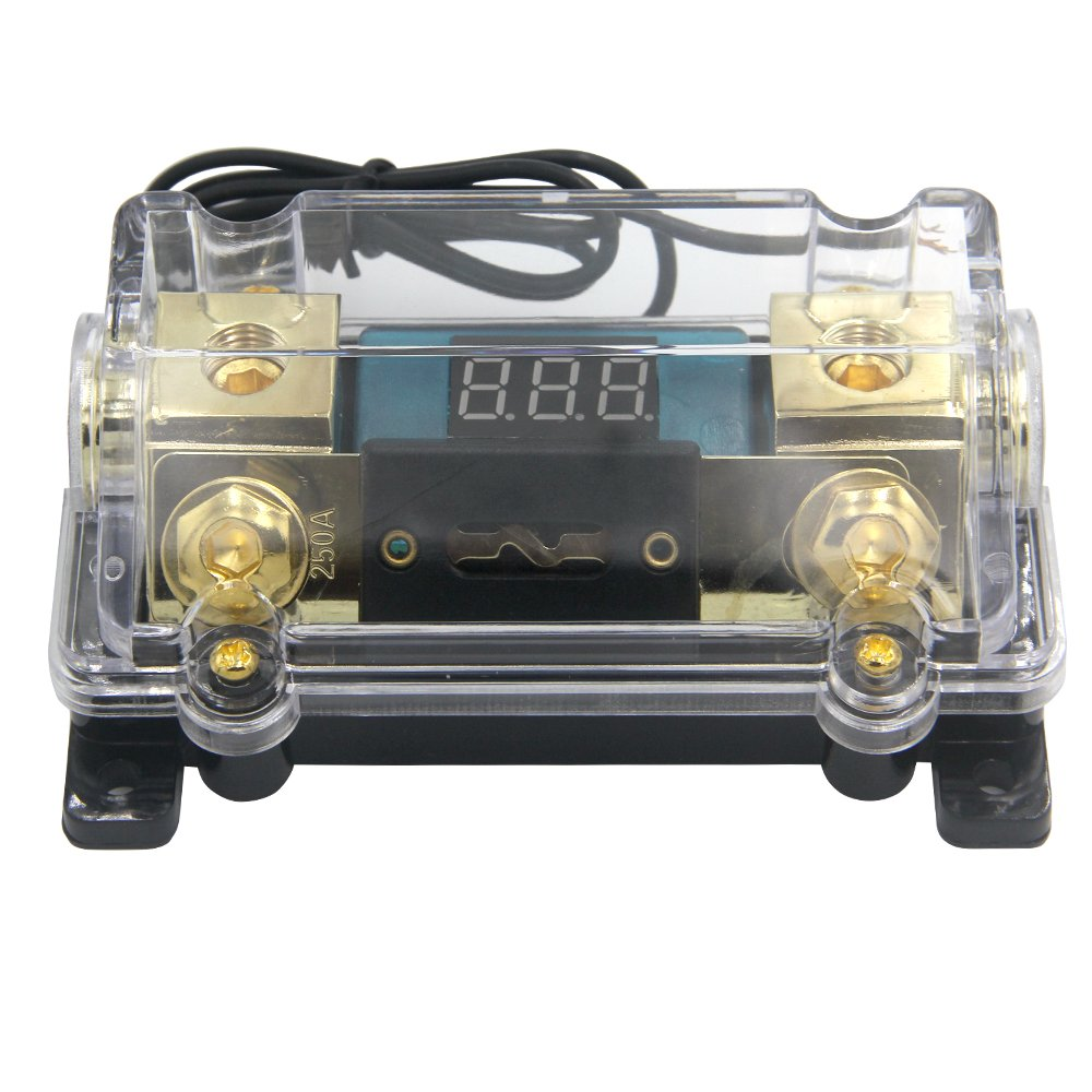 ZOOKOTO 250A Fuse Holder,Car Stereo Audio Led Display Digital Voltage Inline ANL Fuse Holder 0 2 4 Gauge in out with 250 Amp Fuse by ZOOKOTO (Image #4)