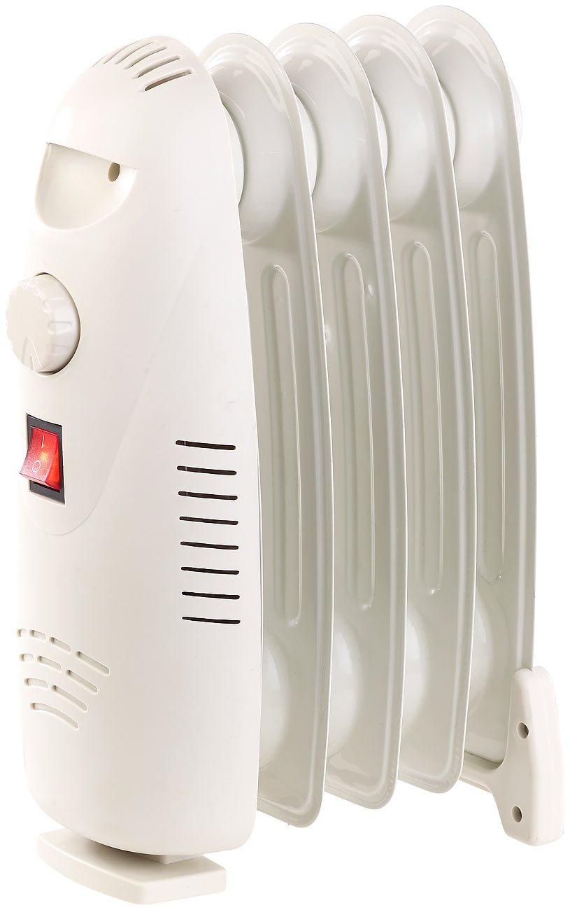 Sichler Haushaltsgeräte - Radiador portátil: calefacción eléctrica con radiador de aceite con 5 aletas y termostato, 500 vatios: Amazon.es: Bricolaje y ...