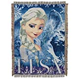 "Disney Frozen Cold Hearted Woven Tapestry Throw Blanket, 48"" x 60"", Multicolor"