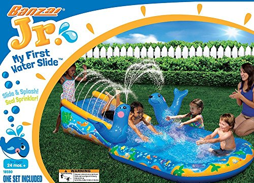 Banzai My First Water Slide (Children Kids Toddler Inflatable Outdoor Backyard Summer Spring Aqua Splash) (Outdoor Toys Banzai)