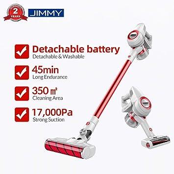JIMMY Xiaomi JV51 Aspirador escoba, Aspirador sin cable, Aspirador 4 en 1 (Potencia de succión de 17,000 Pa, batería desmontable, Autonomía hasta 45 min, Ruido Bajo): Amazon.es: Hogar