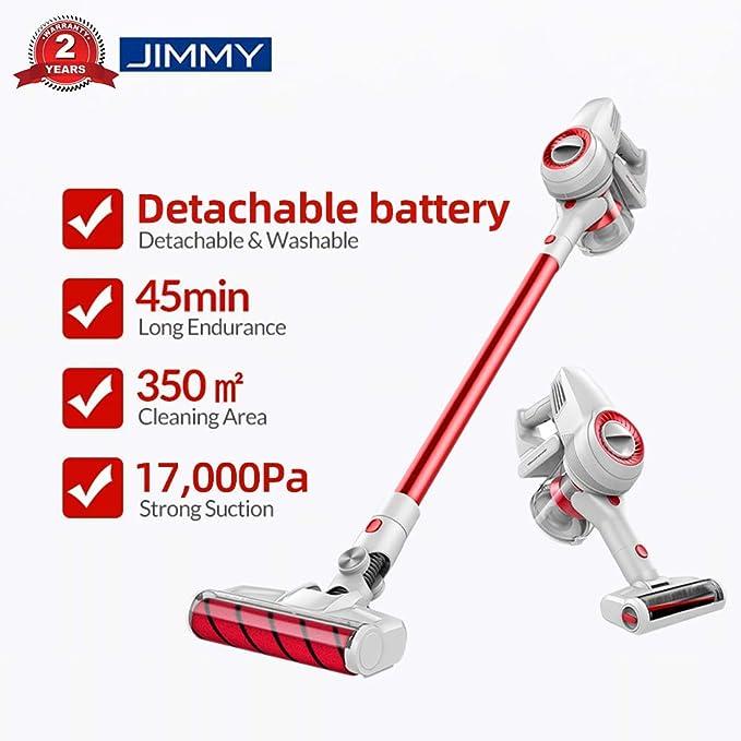JIMMY Xiaomi JV51 Aspirador escoba, Aspirador sin cable, Aspirador 4 en 1 (Potencia de succión de 17,000 Pa, batería desmontable, Autonomía hasta 45 ...