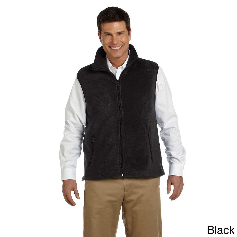 Harriton Mens 8-ounce Lightweight Fleece Vest Charcoal 2XL
