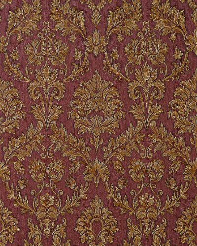 Wallpaper wall baroque damask EDEM 708-36 embossed heavy-weight wine-red beige gold 5.33 sqm (57 sq ft)