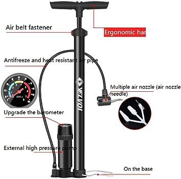 Inflador, bicicleta portátil de alta presión, mini, bicicleta de ...