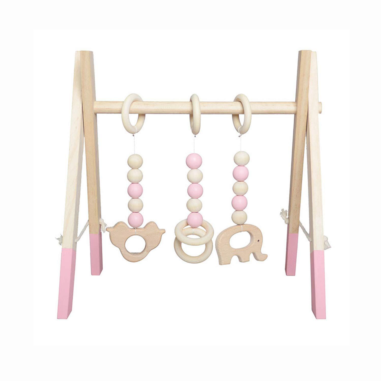AIBAB Nordic Holz Fitness Maschine Gym Kinderzimmer Dekoration Spielzeug Anhänger Früherziehung