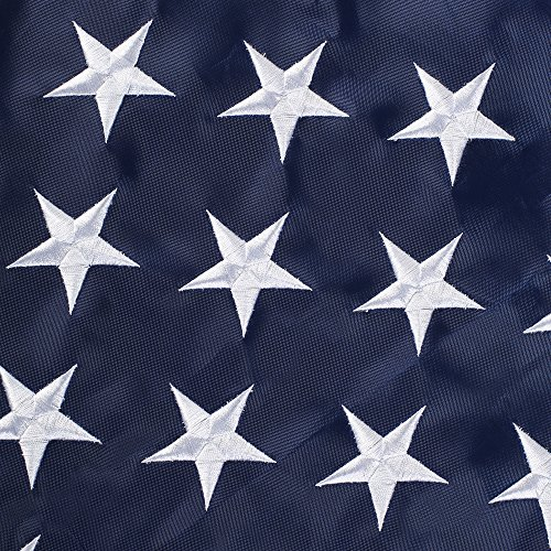 Embroidered Nylon American Flag - 5