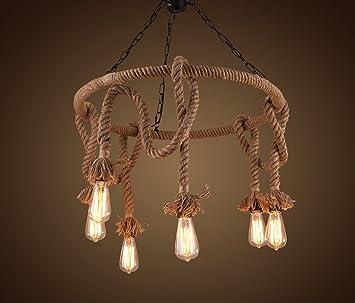 lamparas colgantes Cuerdas de hierro forjado hechas a mano ...