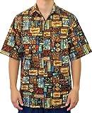 Go Barefoot Mens Kailua Polynesian Peached Cotton Shirt Mango XL offers