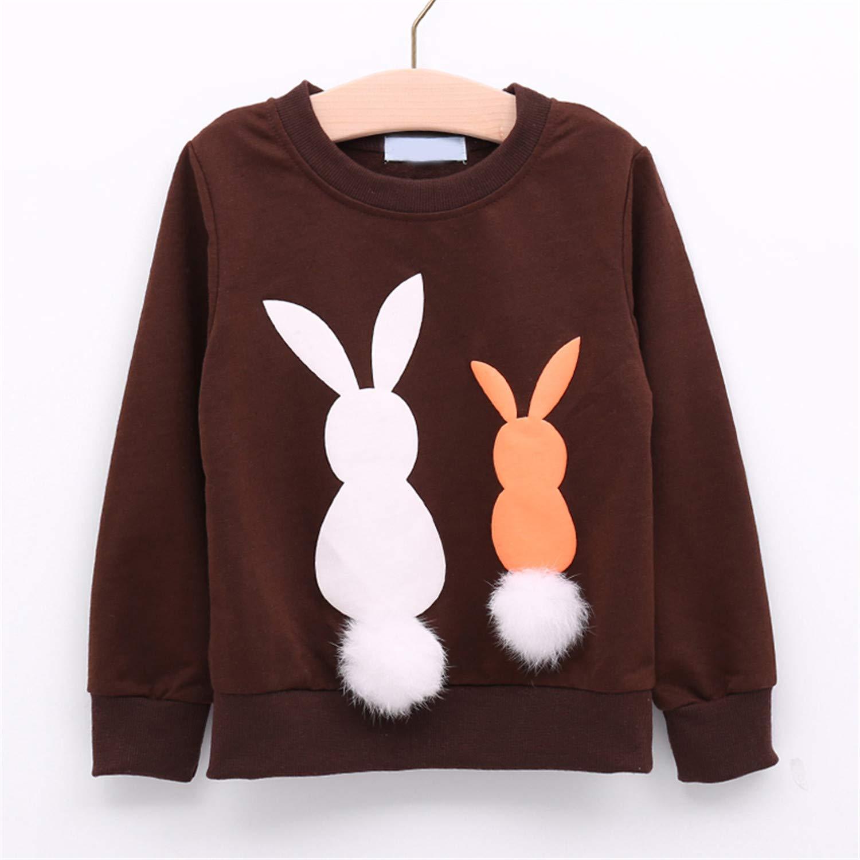 Kids Sweater Girl Long Sleeve Children Cartoon Coat Outwear 3-7Y
