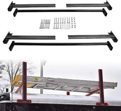 ELITEWILL Estante Ajustable para Escalera de Techo para remolques de 4 Pulgadas hasta 7 Pulgadas de Ancho, Furgonetas, Camiones o escaleras de araña: Amazon.es: Coche y moto
