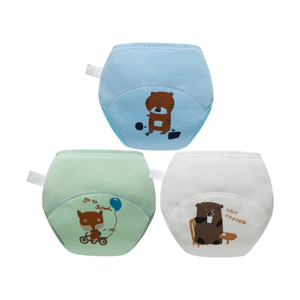 Skhls Toddler Baby Girl Boy Thick Potty Training Pants Cute Diaper Nappy Underwears