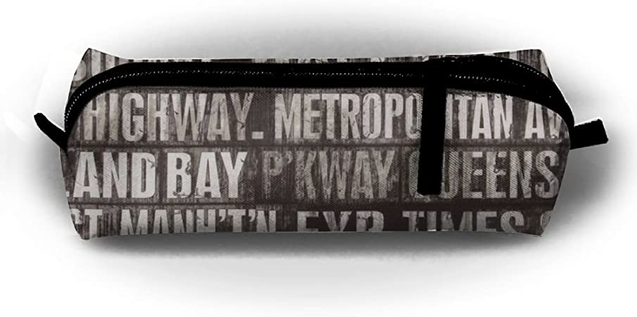 Estuche para lápices, Inglés palabras soporte para bolígrafo papelería bolsa de maquillaje bolsa con cremallera para escuela oficina viajes: Amazon.es: Hogar