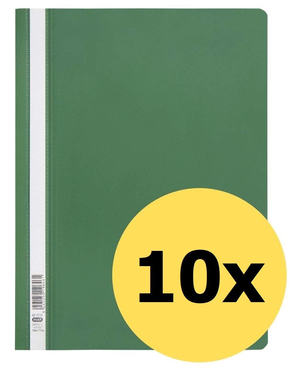 ELBA 100742145 Schnellhefter A4 10er Pack aus Kunststoff f/ür ca 160 DIN A4-Bl/ätter in orange