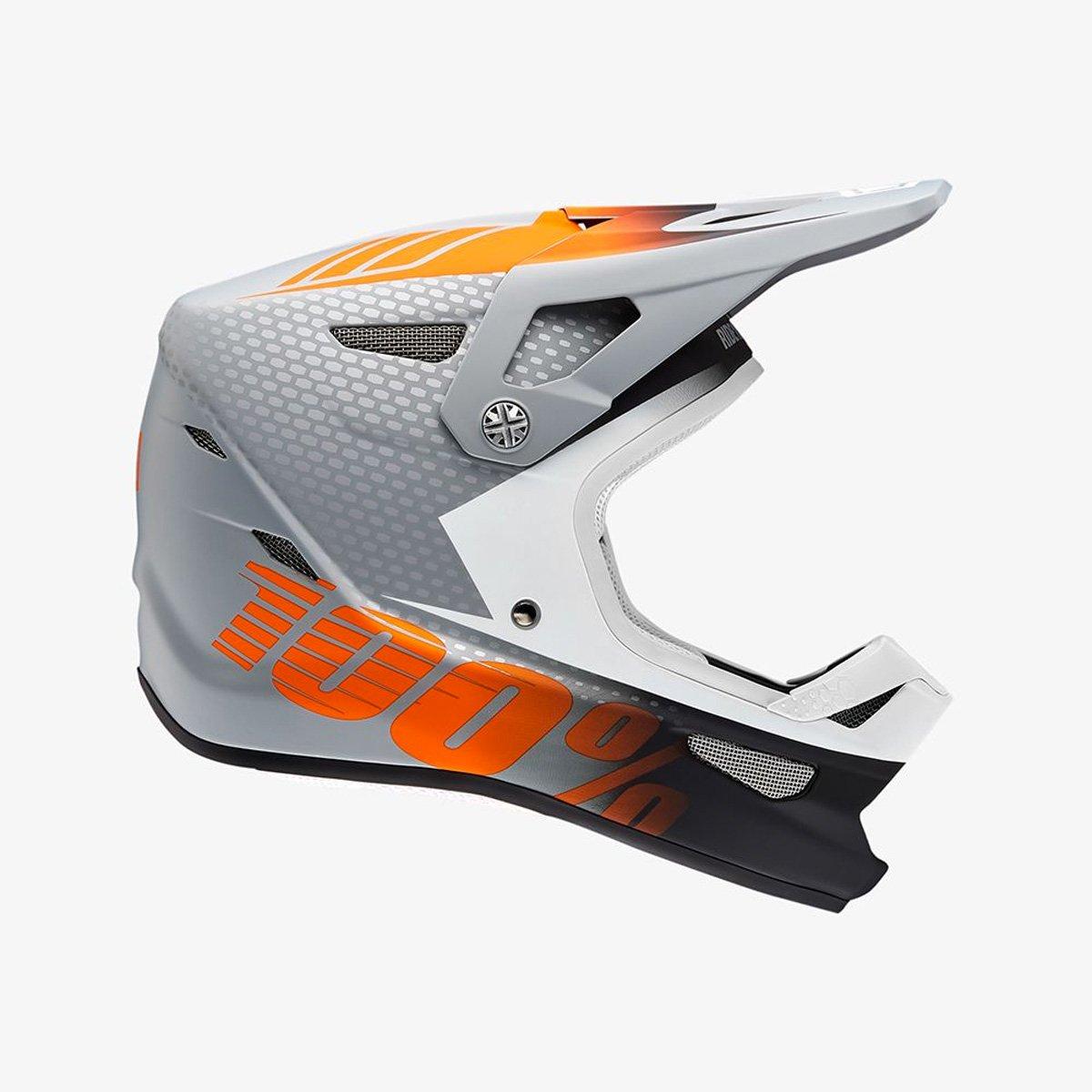 100% Downhill-MTB-Helm Status Weiß Gr. L
