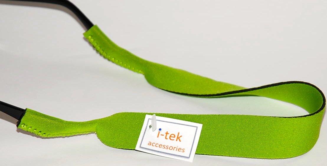 I-tek Neoprene strap glasses retainer (sunglasses/eyeglasses) Lime green ITEK 31404