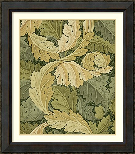 Framed Wall Art Print | Home Wall Decor Art Prints | Wallpaper Design with Acanthus/Woodland Colours, 1875 by William Morris | Traditional Decor