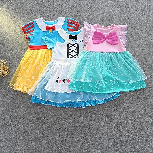 [해외] M144 앨리스 드레스 화이트설 공주와 일곱 난쟁이 인어 공주 드레스 아리엘 프린세스 드레스 키즈 어린이용 드레스 소녀 아이 프린세스 드레스 드레스 변신(나리키리) 공주님 부드럽게 (110,인어 공주 드레스)