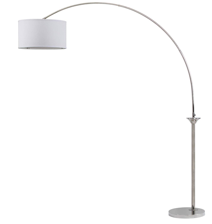 Safavieh LIT4352A Lighting Collection Mira 84 Shiny Nickel Arc Floor Lamp