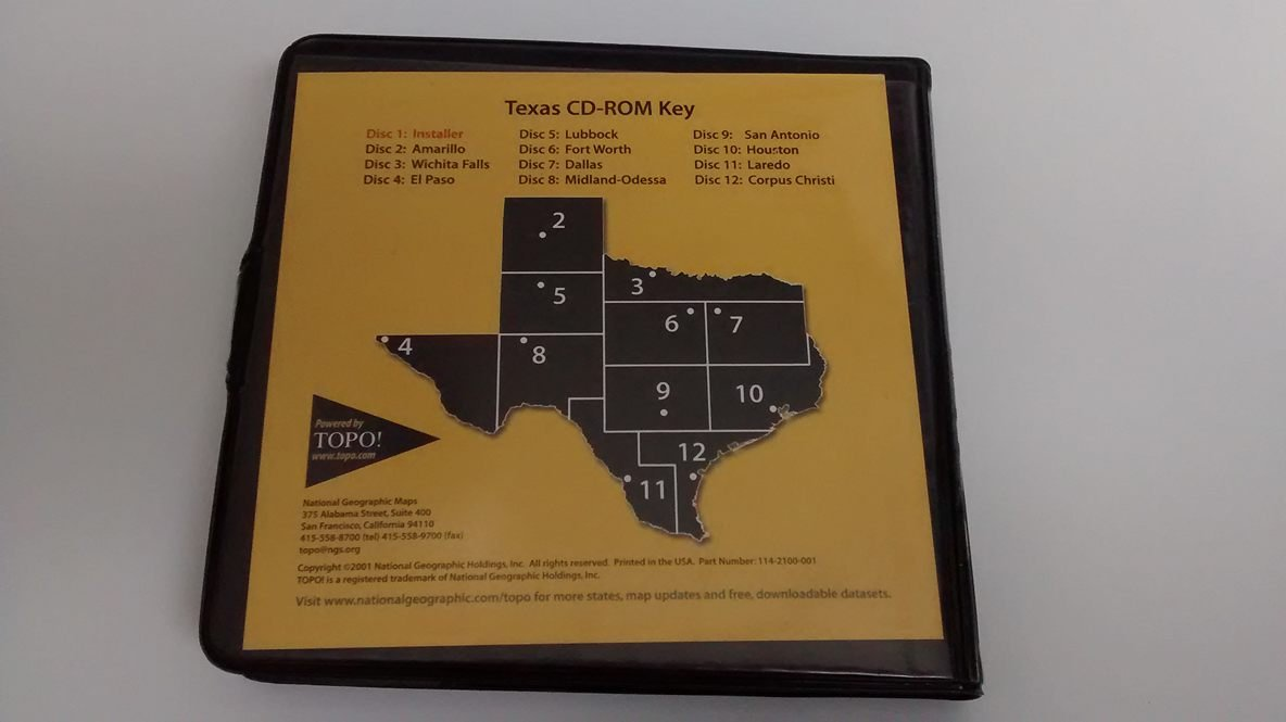 National Geographic Texas: Seamless USGS Topographic Maps on CD-ROM ...