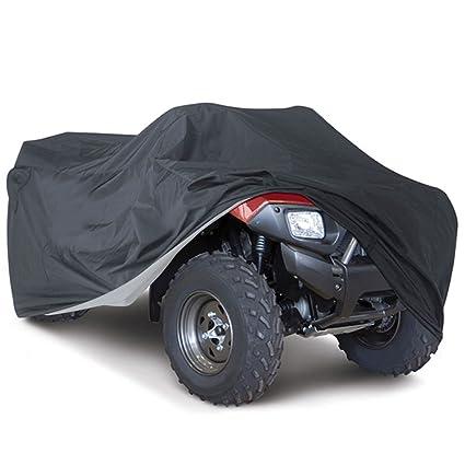 Logas Quad Bike ATV Cover Black Waterproof Four Wheeler Storage Cover Size L//XXL//XXXL