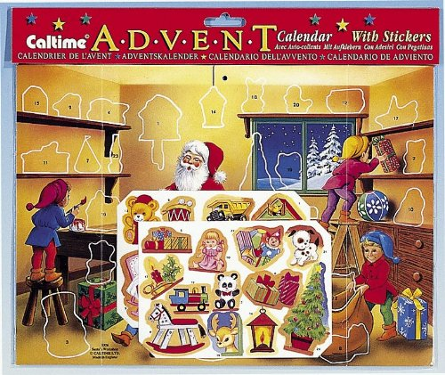 Santa Sticker Advent Calendar Caltime S326