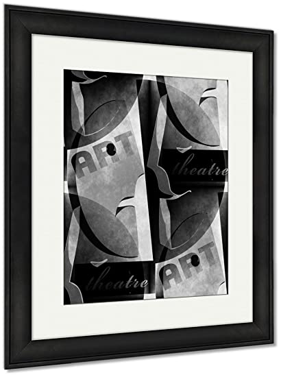 amazon com ashley framed prints theatre poster template in simple