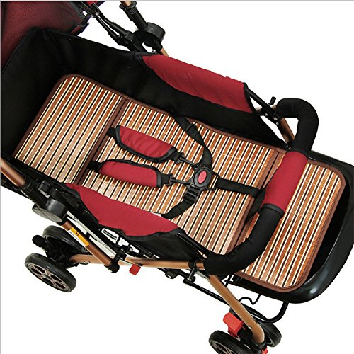 Infant Crib Bed Sleeping Pad Baby Summer Nap Bamboo Flax Sleeping Mat Infant Cool Breathable Bedding Mat for Stroller/Car Seat by LONTG