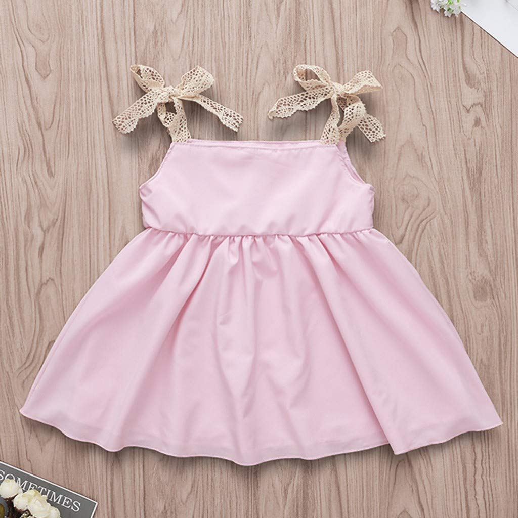 Buoyee Toddler Baby Infant Girls Sleeveless Suspender Cartoon Rabbit Print Dress