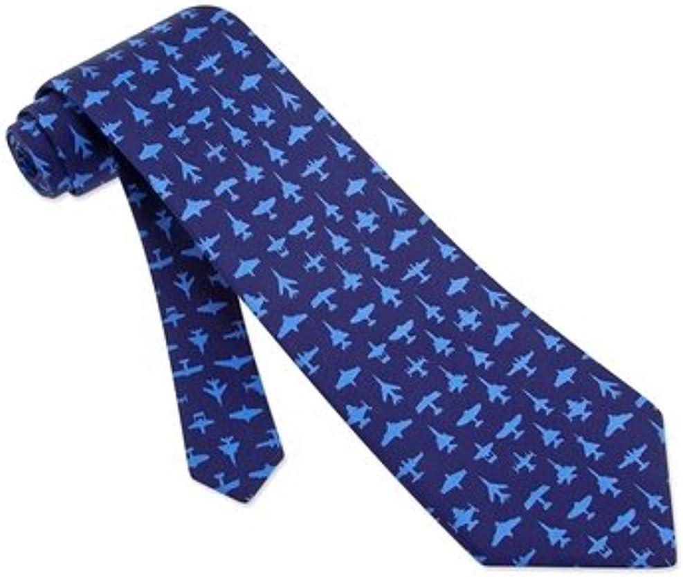 Hombre Azul Avión Aviador Aviones y jets Corbata 100% seda Corbata ...