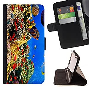 - Fish Water Pattern Colorful/ Personalizada del estilo del dise???¡Ào de la PU Caso de encargo del cuero del tir????n del soporte d - Cao - For Sony Xperia Z3 D6603