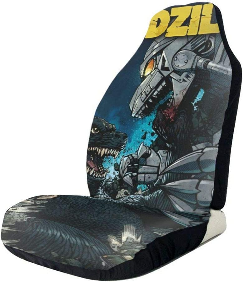 Xingalways Godzilla Tokyo Skytree Car Seat Covers Set of 2 Front Seats Vehicle Seat Protector Car Mat Covers Auto Accessories