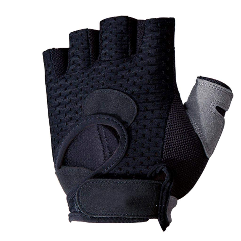 Weight Lifting Gloves Sports Gloves for Men and Women Fitness Half Finger Non-Slip Gloves (Size : L) boyang